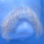Original John Blake film quality costume human facial hair mustache almost white Extra Large