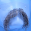 Original John Blake film quality costume human facial hair mustache dark grey Extra Large
