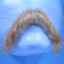 Original John Blake film quality costume human facial hair mustache light blonde Extra Large