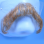 Original John Blake film quality costume human facial hair mustache light brown Extra Large