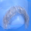 Original John Blake film quality costume human facial hair mustache light grey Extra Large