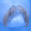 Original John Blake film quality costume human facial hair mustache medium grey Extra Large