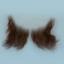 Original John Blake film quality costume human facial hair sideburn dark brown Very Large