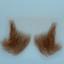 Original John Blake film quality costume human facial hair sideburn light brown Very Large