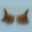 Original John Blake film quality costume human facial hair sideburn light brown with grey Very Large