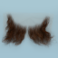 Original John Blake film quality costume human facial hair sideburn medium brown Very Large