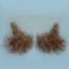Original John Blake film quality costume human facial hair sideburn medium brown with grey Very Large