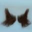 Original John Blake film quality costume human facial hair sideburn very dark brown Very Large