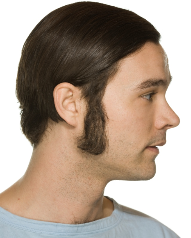 how to get straight facial hair