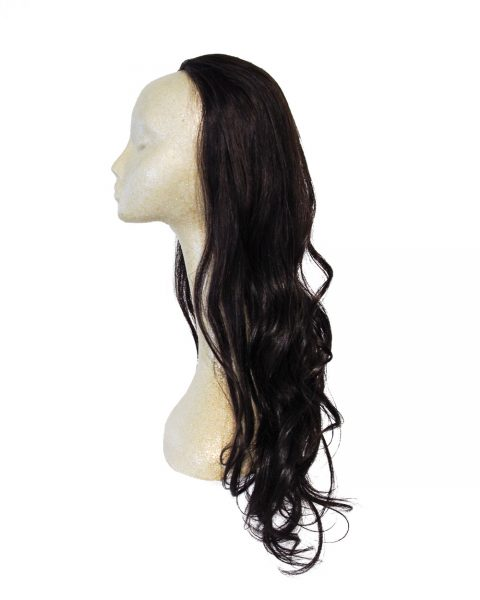 "22"" Human Hair Fall in Black"